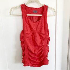 Coral Athleta Scrunched Tank Top